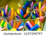 set of pastel chalks | Shutterstock . vector #1197290797
