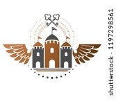 ancient bastion emblem.... | Shutterstock .eps vector #1197298561
