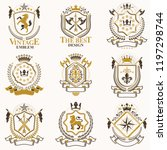 vector classy heraldic coat of...   Shutterstock .eps vector #1197298744