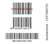 bar code set vector | Shutterstock .eps vector #1197300751