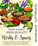 herbs and spices poster with... | Shutterstock .eps vector #1197301651
