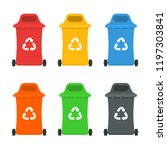 waste sorting and recycling... | Shutterstock .eps vector #1197303841