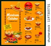 mexican cuisine food menu...   Shutterstock .eps vector #1197305731