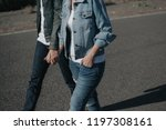 when denim meet the street | Shutterstock . vector #1197308161