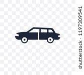 sedan transparent icon. sedan... | Shutterstock .eps vector #1197309541
