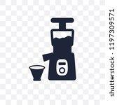 cold pressed juicer transparent ... | Shutterstock .eps vector #1197309571