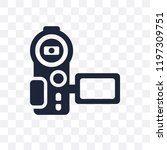 video recorder transparent icon.... | Shutterstock .eps vector #1197309751