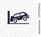 parking crash transparent icon. ... | Shutterstock .eps vector #1197310411