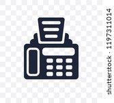 fax machine transparent icon.... | Shutterstock .eps vector #1197311014