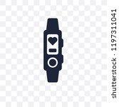 activity tracker transparent... | Shutterstock .eps vector #1197311041