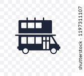 double decker bus transparent... | Shutterstock .eps vector #1197311107