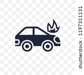 burning car transparent icon.... | Shutterstock .eps vector #1197311131