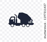 cement truck transparent icon....   Shutterstock .eps vector #1197311437