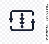 loop transparent icon. loop... | Shutterstock .eps vector #1197311467