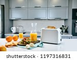 white electric bread toaster... | Shutterstock . vector #1197316831