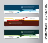 vector abstract banner... | Shutterstock .eps vector #1197324187