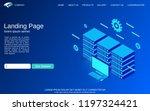 website landing page vector... | Shutterstock .eps vector #1197324421