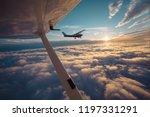 small single engine airplane... | Shutterstock . vector #1197331291