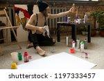 full length portrait of... | Shutterstock . vector #1197333457
