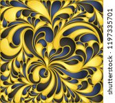 silk texture fluid shapes ... | Shutterstock .eps vector #1197335701
