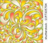 silk texture fluid shapes ... | Shutterstock .eps vector #1197335704