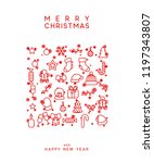 merry christmas and happy new... | Shutterstock .eps vector #1197343807
