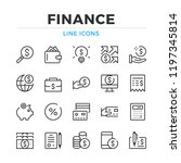 finance line icons set. modern... | Shutterstock .eps vector #1197345814