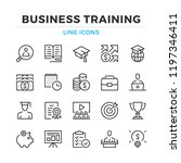 business training line icons... | Shutterstock .eps vector #1197346411