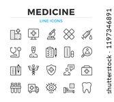 medicine line icons set. modern ... | Shutterstock .eps vector #1197346891