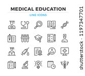 medical education line icons... | Shutterstock .eps vector #1197347701