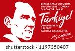 turkey   october 29  1923.... | Shutterstock .eps vector #1197350407