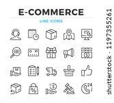 e commerce line icons set.... | Shutterstock .eps vector #1197355261