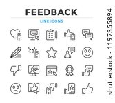 feedback line icons set. modern ... | Shutterstock .eps vector #1197355894