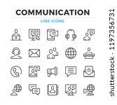 communication line icons set.... | Shutterstock .eps vector #1197356731