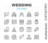wedding line icons set. modern... | Shutterstock .eps vector #1197357997