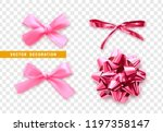 bows color pink realistic... | Shutterstock .eps vector #1197358147