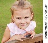 portrait of happy child   Shutterstock . vector #119735839