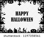 happy halloween october 31st.... | Shutterstock .eps vector #1197358561