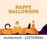 happy halloween october 31st.... | Shutterstock .eps vector #1197358564