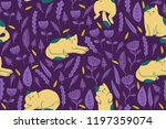 seamless pattern design with... | Shutterstock .eps vector #1197359074