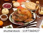 roasted pepper turkey for... | Shutterstock . vector #1197360427