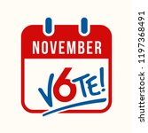 reminder to vote in the united... | Shutterstock .eps vector #1197368491