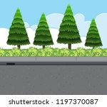 nature roadside view landscape... | Shutterstock .eps vector #1197370087