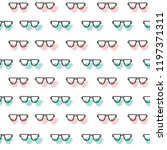 vector seamless pattern with... | Shutterstock .eps vector #1197371311