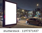 mock up of blank white vertical ... | Shutterstock . vector #1197371437
