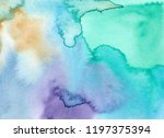 abstract watercolor background. ... | Shutterstock . vector #1197375394