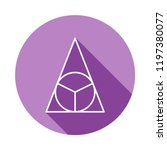 circle in a triangle icon in...