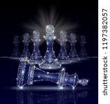 vector polygonal art style king ... | Shutterstock .eps vector #1197382057