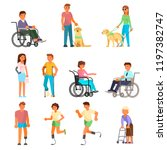 disabled people icon set.... | Shutterstock .eps vector #1197382747