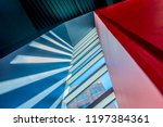 staircase painted in red.... | Shutterstock . vector #1197384361